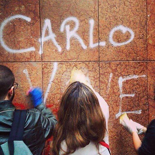 scritte cancellate a Milano